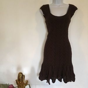 Moda International Dresses - MODA INTERNATIONAL brown sweater dress